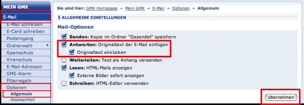 gmx e mail adresse anzeigen