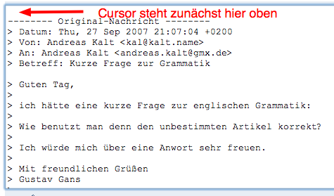 Richtig Auf E Mails Antworten Herr Kaltde